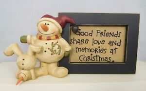 Frame with a saying and a snowmen on the side - New Blossom Bucket #82825B