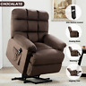 Electric Power Lift Recliner Chair Upgraded Motor Soft Velvet Fabric Wide Seat
