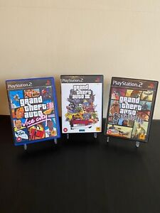 Grand Theft Auto San Andreas Vice City And 3 PS2 PlayStation 2