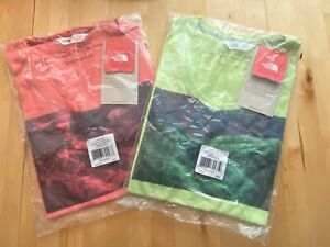 The North Face Womens MEDIUM Inspire T-Shirt - 2 Pack Pink & Green - NWT $40