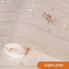 10M Floral Wallpaper Embossed Non-woven Wall Paper Home Decor Country Chic Craft