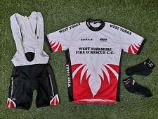 West Yorkshire Fire & Rescue Service Cycling Bib Shorts Jersey & Socks Bike Kit