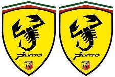 2 stickers adhésifs  FIAT PUNTO ABARTH   ( idéal pour aile avant)
