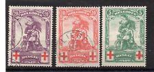 Belgium (2973) 1914  Red Cross fund used set Sg151-3  Cat £110