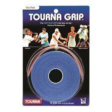 Tourna Grip Tennis Racket Over Grip - 10 Overgrips Dry Feel Tournagrip Blue NEW
