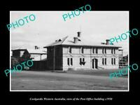 OLD 8x6 HISTORIC PHOTO OF COOLGARDIE WESTERN AUSTRALIA THE POST OFFICE c1950