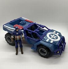 Captain America Shield Assault 4X4 Action Figure Vehicle Hasbro 2011 Marvel Jeep