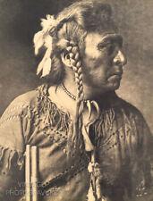 1900/72 Vintage Matted EDWARD CURTIS Native American Indian Atsina Warrior 16X12