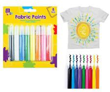 8 Textilfarben für helle Textilien Stoffmalfarbe Stofffarbe Textilmalstift Paint