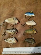 Lot of 7 Vintage Lipless Crank Bait lures: swimmin minnow, bayou boogie USED