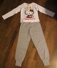 Hello Kitty Schlafanzug Gr 140 Pyjama NEU Langarm Shirt Hose Glitzer 10 Jahre