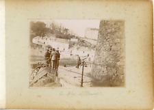 France, Bretagne, Le Môle de Dinard, ca.1900, vintage citrate print Vintage citr