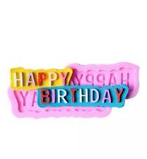 HAPPY BIRTHDAY Silicone Mould, Cake Decorating, Sugarcraft, Fondant, Chocolate