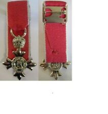 MINIATURE MOUNTED MBE Civilian MEDAL, supplied as seen with a pin brooch to wear