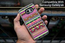 Aztec Pattern Artwork Colourful Hard Case Fits Samsung Galaxy S6