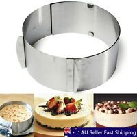 "6""-12"" Retractable Stainless Steel Cake Circular Mousse Ring Mold Mould Tool DIY"