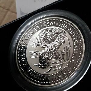 Australia kookaburra 2oz speciman Silver Proof Coin .1993 dump privy Mark.