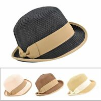 Ladies Cool Summer Dress Cloche Bell Bucket Hats Fedora Sun Beach Visor Hat