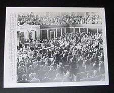 PRESIDENT LYNDON JOHNSON PRESS PHOTO 1/15/69 STATE OF UNION ADDRESS
