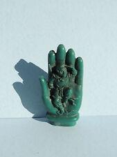 Vintage Carved Ceramic Hand w/ Monkey Guy
