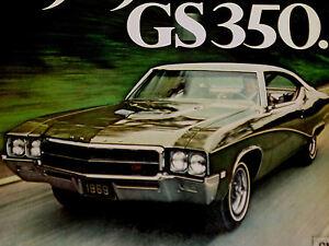 1969 BUICK SKYLARK GS350 ORIGINAL AD *GS/350/v8/grille/emblem/fender/trunk/decal