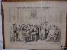 BART. PINELLI 1831 view of INTERNO DE GAMERA  OLD MASTER ANTIQUE 19TH CEN PRINT