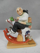 Norman Rockwell / Danbury Mint Handcrafted Bisque Porcelain, Gramps At The Reins