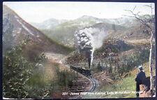 MOFFAT ROAD CO ~ 1912 SMOKING TRAIN~JAMES PEAK FROM EASTERN SLOPE~MAN WATCHING