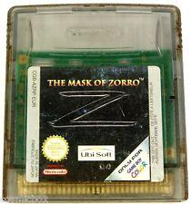 GAME BOY COLOR jeu video le masque de ZORRO the mask of console Nintendo console
