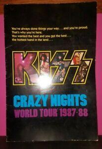 "Kiss Crazy Nights World Tour Book 1987-8813""x19"" HUGE Color ORIGINAL PROGRAM"