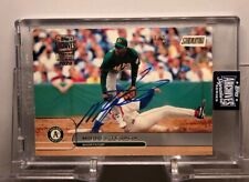 Miguel Tejada Topps Archives On Card Auto 1/2 Ebay 1/1 Oakland Athletics Rare