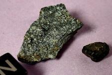 4.388 Gr, 2 Piece Lot, Chergach H-5 Chondrite Meteorite, Crusted, Observed Fall