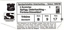 Ticket - SpVgg Unterhaching v Fortuna Dusseldorf 1998/9