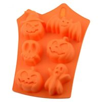 6 Cavity Halloween Ghost Silicone Cake Mold Decor Ice Cube Chocolate Baking DIY