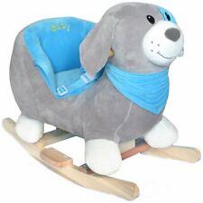 Baby Kleinkind Schaukeltier Schaukelpferd Hund Rocky Plüsch Sicherheitssitz Neu