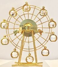 Gold-plated Ferris Wheel with Swarovski Crystals Motion Figurine