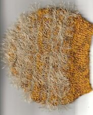 Beenie hat- fuzzy   -Handknitted - size to fit up to  8 years old NEW