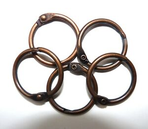 Metal Binding Rings in 25mm Bronze Colour and in Packs 4,10,20,50,100,and 250