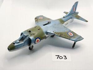 VINTAGE DINKY TOYS # 722 HARRIER GR MK1 DIECAST RAF JET FIGHTER PLANE AIRCRAFT