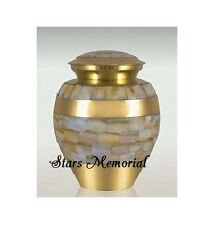 Infant Mother of Pearl Cremation Urn, Infant Urn,Free Shipping