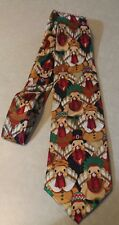 New First Turkey Day Mens Thanksgiving Turkey Dressed Up Black Neck Tie #3