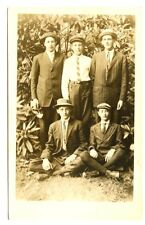 Vintage RPPC Spiffy Young Men, Suits and Ties.  Circa 1910