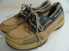 St. John's Bay Tan Leather  Boat Shoes Size 11 M
