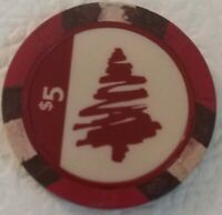 Point Place Casino RED $5.00 Poker Chip Bridgeport, NY perfect stocking gift