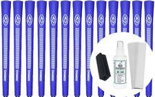 Avon Chamois Blue Jumbo Golf Grips Set of 13 w/ Grip Kit - New