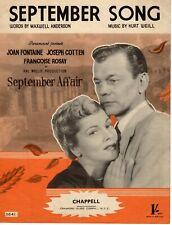 Sheet Music & Lyrics - The Film September Affair - September Song