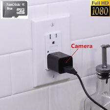 1080P 8GB HD Spy DVR Nanny Camera cell Phone Plug Charger Video Recorder Cam