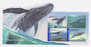 2006 AUSTRALIA MINI SHEET 'WHALES DOWN UNDER' - WITH LOCAL & INTERNATIONAL MNH