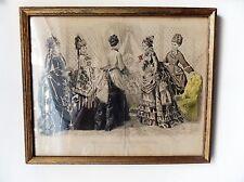 1874 LES MODES PARISIENNES PETERSON'S MAGASINS babies levee print