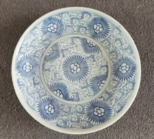 Antique Chinese Qing Dynasty Blue Decorated Bowl Dish
